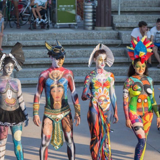 Color Sea Festival 2018 – Bodypainting a Fano