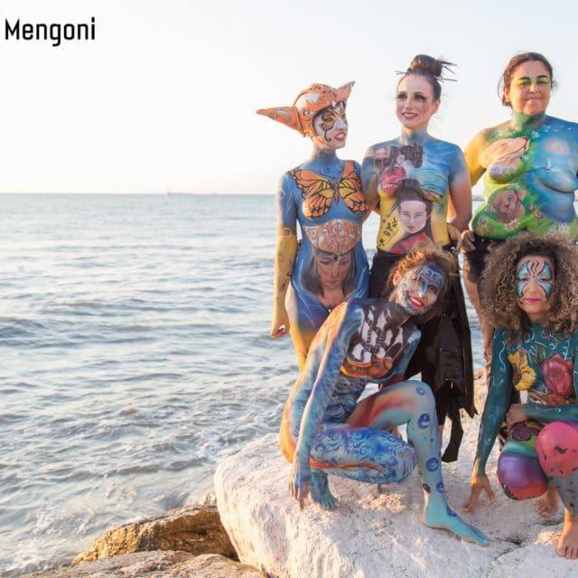bodypainting marina dorica le guerriere
